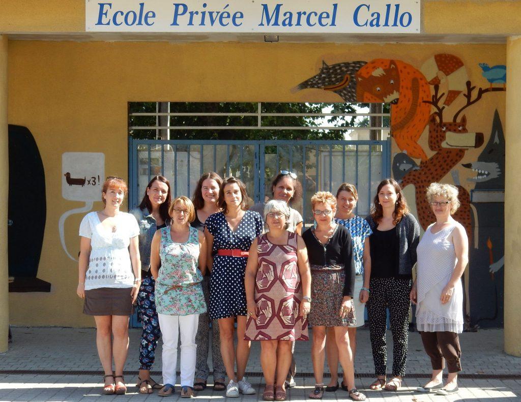 L'équipe de l'école Marcel Callo