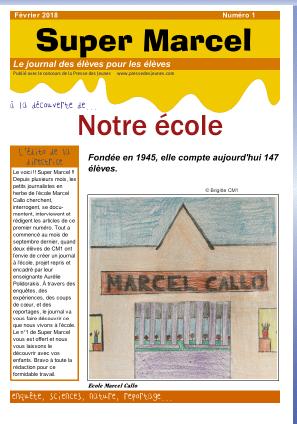 Super Marcel : le journal de notre école
